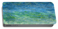 Blue Green Waves Portable Battery Charger
