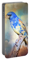 Blue Grosbeak Portable Battery Charger by Barbara Manis