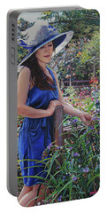 Blue Hat Girl Portable Battery Charger