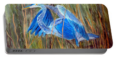 Blue Heron In Viera  Florida Portable Battery Charger