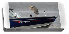 Blue Heron Boat Ride Portable Battery Charger