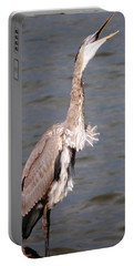 Blue Heron Calling Portable Battery Charger by Sumoflam Photography