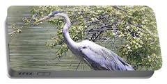 Blue Heron Portable Battery Charger by Clarice  Lakota
