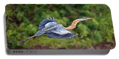 Portable Battery Charger featuring the photograph Blue Heron Flight by Shari Jardina