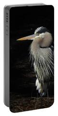 Blue Heron Gaze Portable Battery Charger by Deborah Smith