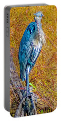 Portable Battery Charger featuring the photograph Blue Heron In Maryland by Nick Zelinsky