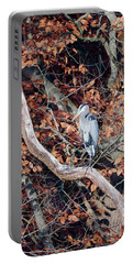Blue Heron In Tree Portable Battery Charger