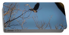 Portable Battery Charger featuring the photograph Blue Heron Landing by David Bearden