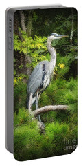 Blue Heron Portable Battery Charger by Lydia Holly