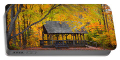 Blue Heron Park In The Fall Portable Battery Charger
