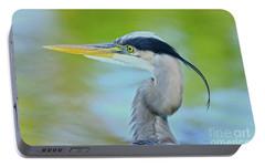 Portable Battery Charger featuring the photograph Blue Heron Portrait 2017 by Deborah Benoit
