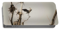 Portable Battery Charger featuring the photograph Blue Heron Posing by David Bearden