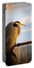 Portable Battery Charger featuring the photograph Blue Heron Resting by Bryan Carter