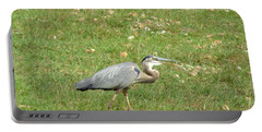 Portable Battery Charger featuring the photograph Blue Heron by Robin Regan
