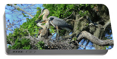 Portable Battery Charger featuring the photograph Blue Heron Series Baby 1 by Deborah Benoit