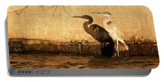 Blue Heron Shadow Portable Battery Charger