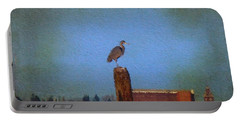 Blue Heron Sky Painted Portable Battery Charger