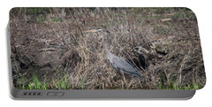 Portable Battery Charger featuring the photograph Blue Heron Stalking Dinner by David Bearden