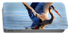 Blue Heron Portable Battery Charger by Sumoflam Photography