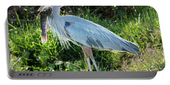 Blue Heron With Fish Portable Battery Charger