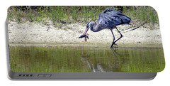 Blue Heron's Lucky Day Portable Battery Charger