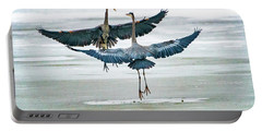 Portable Battery Charger featuring the photograph Blue Herons by Norman Hall