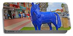 Blue Horse In Orangjetad, Aruba Portable Battery Charger by Allan Levin