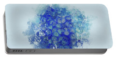 Blue Hortensia Portable Battery Charger by Eva Lechner