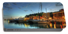Portable Battery Charger featuring the photograph Blue Hour At Port Nice 2.0 by Yhun Suarez