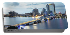 Blue Hour In Jacksonville Portable Battery Charger