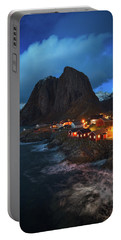 Blue Hour In Lofoten Portable Battery Charger
