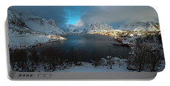 Blue Hour Over Reine Portable Battery Charger