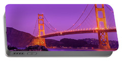 Golden Gate Bridge In The Blue Hour Portable Battery Charger