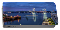 Blue Hour Over The Hudson Portable Battery Charger