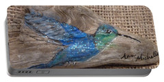 Blue Hummingbird Portable Battery Charger