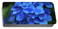 Blue Hydrangea Stylized Portable Battery Charger