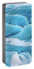 Portable Battery Charger featuring the photograph Blue Ice Svinafellsjokull Glacier Iceland by Matthias Hauser