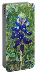 Blue In Bloom 2 Portable Battery Charger by Hailey E Herrera