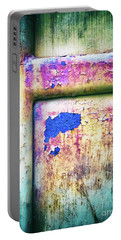Portable Battery Charger featuring the photograph Blue In Iron Door by Silvia Ganora