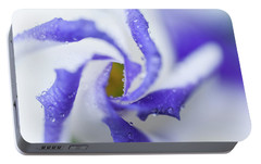 Portable Battery Charger featuring the photograph Blue Inspiration. Lisianthus Flower Macro by Jenny Rainbow