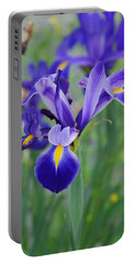 Blue Iris Flower Portable Battery Charger