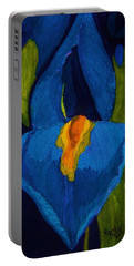 Blue Iris Portable Battery Charger by Rand Swift