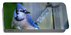 Blue Jay Fluffed Portable Battery Charger
