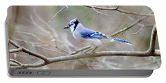 Portable Battery Charger featuring the photograph Blue Jay by George Randy Bass