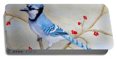 Blue Jay Portable Battery Charger by Laurel Best