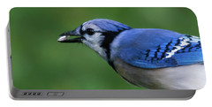 Blue Jay With Seed Portable Battery Charger