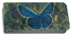 Blue Karner Butterfly Watercolor Batik Portable Battery Charger