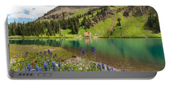 Portable Battery Charger featuring the photograph Blue Lakes Summer Splendor by Cascade Colors