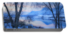 Blue Landscape Portable Battery Charger