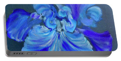Blue/lavender Iris Portable Battery Charger